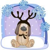 собака antlers иллюстрация вектора