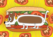собака eps горячая иллюстрация штока
