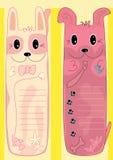 собака eps кота bookmark Стоковое фото RF