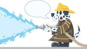 Собака Firefighting иллюстрация вектора