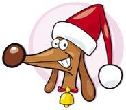 собака santa Стоковые Изображения