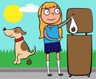 собаки девушки бросать школы poo s вне Стоковое фото RF