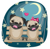 Собаки мопса любовников иллюстрация штока