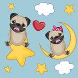Собаки мопса любовников бесплатная иллюстрация
