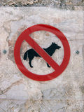 Собаки позволенные 17 знака Стоковое фото RF