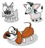 собаки шаржа Стоковое фото RF
