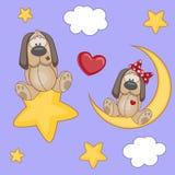 Собаки любовников иллюстрация штока