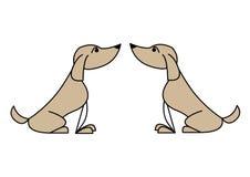 собаки иллюстрация штока