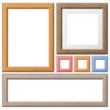 Соберите деревянные рамки стоковые фото