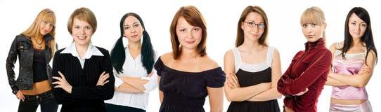соберите женщину людей Стоковая Фотография