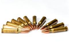 Соберите несколько патронов винтовки с отражениями Стоковые Фотографии RF