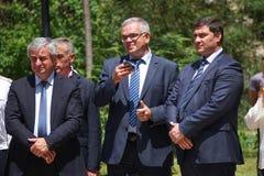 Соберите портрет президента абхазии Khajimba, русского консула Grigoriev и других людей стоковые фото