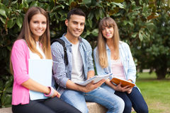 соберите студентов стоковое фото