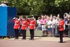 собираться толпой london предохранителя цвета королевский Стоковая Фотография RF