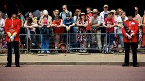 собираться толпой london предохранителя цвета королевский Стоковые Фото