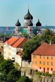 Собор Александра Nevsky на холме Toompea в городке Таллина старом, Эстонии Стоковое фото RF