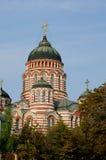 Собор аннунциации Харькова, взгляда главной башни Стоковое Изображение RF
