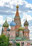 Собор базилика St благословленное в Москве стоковая фотография