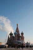 Собор базилика на красной площади, Москве Стоковое фото RF
