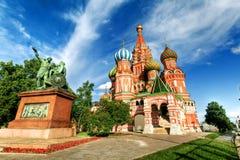 Собор базилика Святого, красная площадь, Москва, Россия Стоковое Изображение