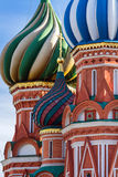 Собор базилика St в Москве на солнечный день Стоковые Фотографии RF