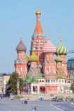 Собор базилика St день солнечного света красной площади Москвы Кремля Стоковая Фотография RF