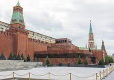 Собор базилика St, мавзолей Ленина, башня Spasskaya Стоковые Изображения RF