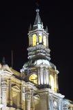 Собор базилики Arequipa, Перу Стоковая Фотография RF