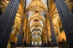 Собор Барселоны, старый городок Барселона, Испания Стоковое Изображение RF
