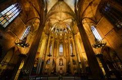 Собор Барселоны, старый городок Барселона, Испания Стоковое фото RF