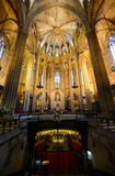 Собор Барселоны, старый городок Барселона, Испания Стоковое Фото