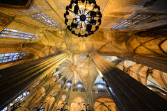 Собор Барселоны, старый городок Барселона, Испания Стоковые Фото