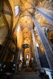 Собор Барселоны, старый городок Барселона, Испания Стоковое Изображение