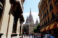 Собор Барселоны Стоковые Изображения