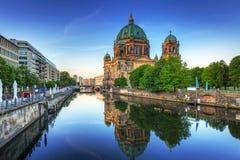 Собор Берлина на зоре, Германия Стоковое фото RF