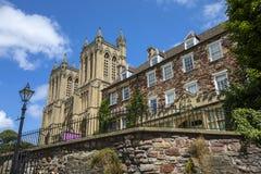 Собор Бристоля и своя школа клироса стоковые изображения