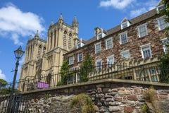 Собор Бристоля и своя школа клироса стоковые фотографии rf