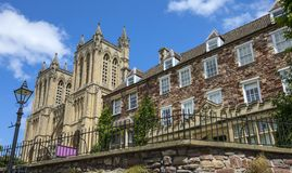 Собор Бристоля и своя школа клироса стоковые фото