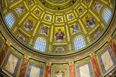 Собор Будапешт Венгрия Stephens Святого базилики купола Христоса Стоковая Фотография RF