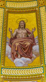 Собор Будапешт Венгрия Stephens Святого купола мозаики Христоса Стоковые Фото