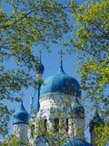 Собор весной растительности Собор Pokrovsky в Gatchina Россия Стоковая Фотография RF