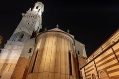 Собор вечером - венето Италия Европа Вероны стоковое изображение