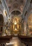 Собор Вильнюса главный римско-католический собор Литвы Оно расположено в городок Вильнюса старый, как раз Cathe Стоковые Фото