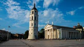 Собор Вильнюса с колоколом стоковые фотографии rf