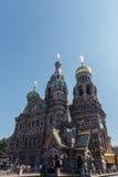Собор воскресения Христоса в Санкт-Петербурге, России спаситель церков крови Стоковые Фото