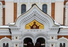 Собор в городке Таллина старом, Est Александра Nevsky правоверный Стоковое фото RF