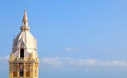 Собор в испанском колониальном городе Cartagena, Колумбии Стоковая Фотография RF