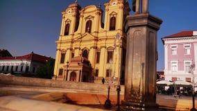 Собор в квадрате соединения Timisoara видеоматериал