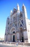 Собор в Умбрии, Италия Orvieto Стоковое фото RF
