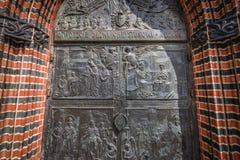 Собор в Szczecin стоковые фотографии rf